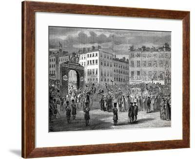 The Entry of George IV--Framed Giclee Print