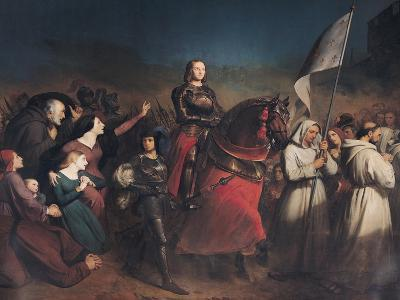 The Entry of Joan of Arc (1412-31) into Orleans, 8th May 1429, 1843-Henry Scheffer-Giclee Print