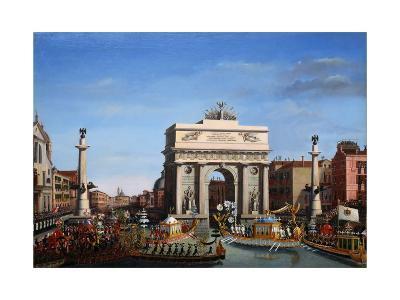 The Entry of Napoleon into Venice on the 29th of November 1807-Giuseppe Borsato-Giclee Print