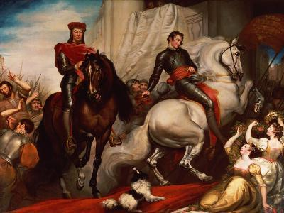The Entry of Richard II and Bolingbroke into London-James Northcote-Giclee Print