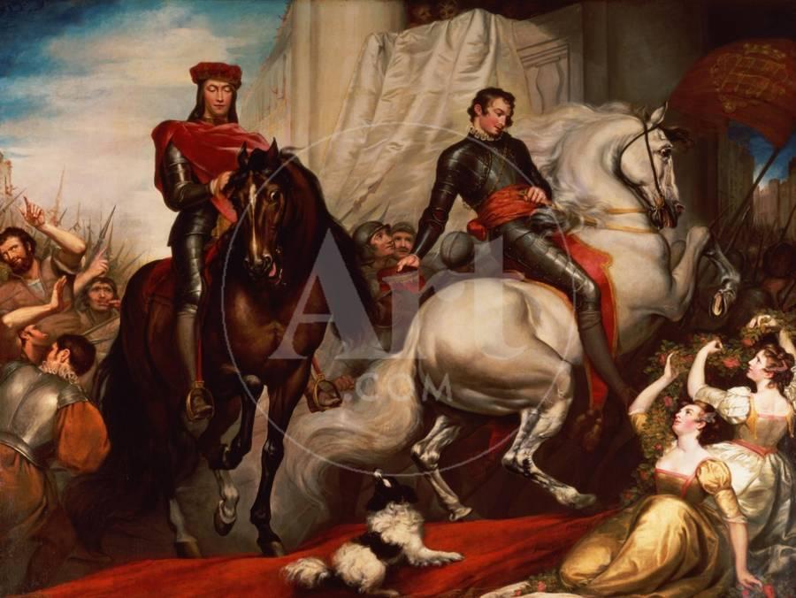 The Entry of Richard II and Bolingbroke into London Giclee Print by James  Northcote | Art com