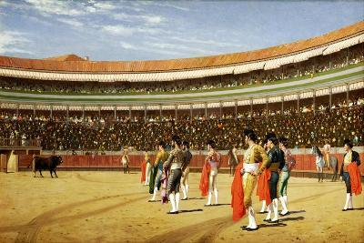 The Entry of the Bull-Jean Leon Gerome-Giclee Print