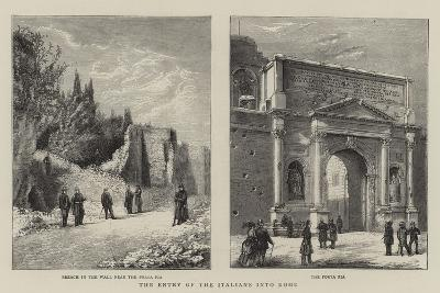 The Entry of the Italians into Rome--Giclee Print