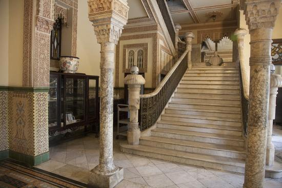 The Entryway to the Restaurant Palacio De Valle in the Punta Gorda Section of Cienfuegos-Michael Lewis-Photographic Print