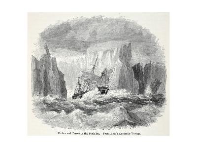 The 'Erebus' and the 'Terror' Among Icebergs--Giclee Print