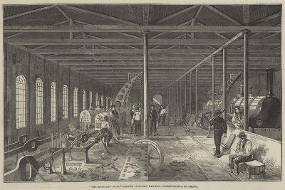 The Erecting Shop, Grand Junction Railway Engine-Works, at Crewe--Giclee Print