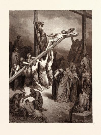 The Erection of the Cross-Gustave Dore-Giclee Print
