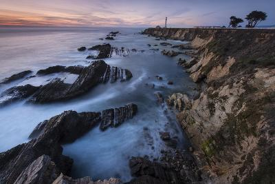 The Eroded Coastline of Stornetta Public Lands North of the Town of Point Arena-Michael Melford-Photographic Print