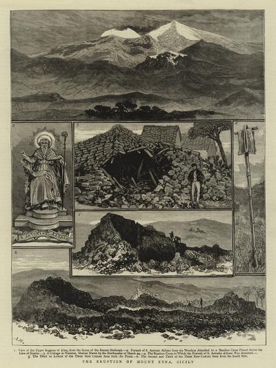 The Eruption of Mount Etna, Sicily--Giclee Print