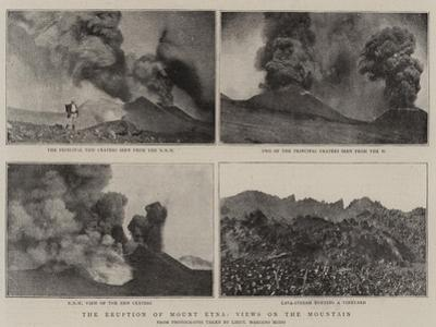 The Eruption of Mount Etna, Views on the Mountain