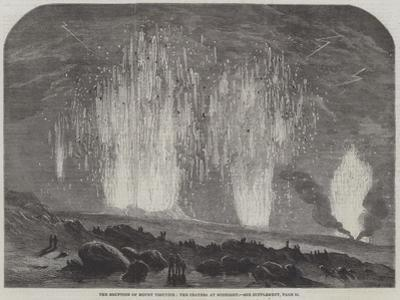 The Eruption of Mount Vesuvius, the Craters at Midnight
