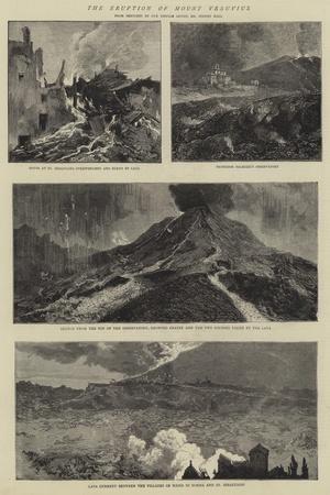 The Eruption of Mount Vesuvius-Sydney Prior Hall-Giclee Print