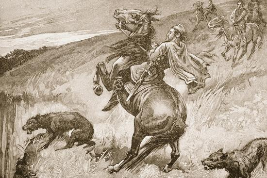 The Escape of King Edmund--Giclee Print