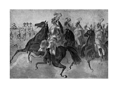 The Escort of Cuirassiers, 19th Century-Constantin Guys-Giclee Print