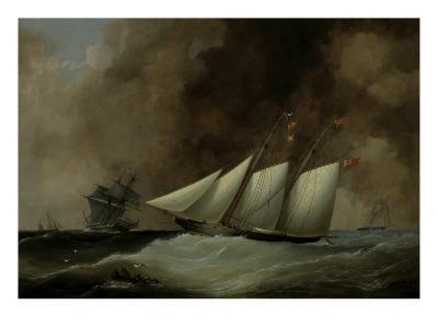 The Esmeralda under Full Sail, 1846-Nicholas Matthew Condy-Giclee Print