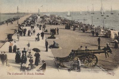 The Esplanade and Beach, Southsea--Photographic Print