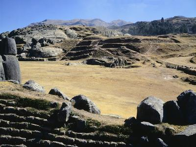 The Esplanade in Front of the Walls of Sacsahuaman--Giclee Print