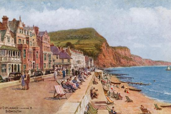 The Esplanade, Looking E, Sidmouth-Alfred Robert Quinton-Giclee Print