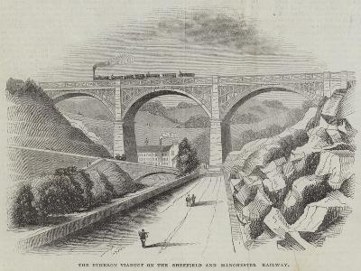 The Etheron Viaduct on the Sheffield and Manchester Railway--Giclee Print