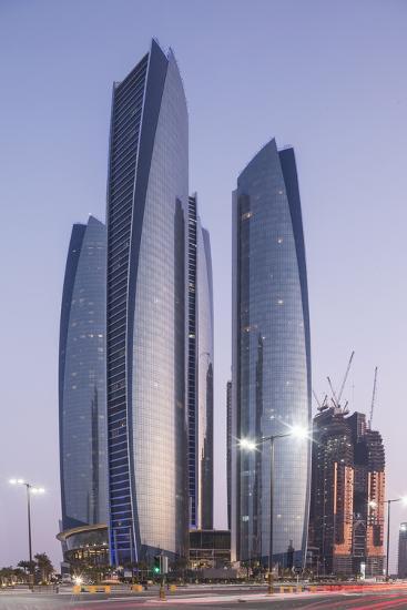 The Etihad Towers, Abu Dhabi, United Arab Emirates, Middle East-Angelo Cavalli-Photographic Print