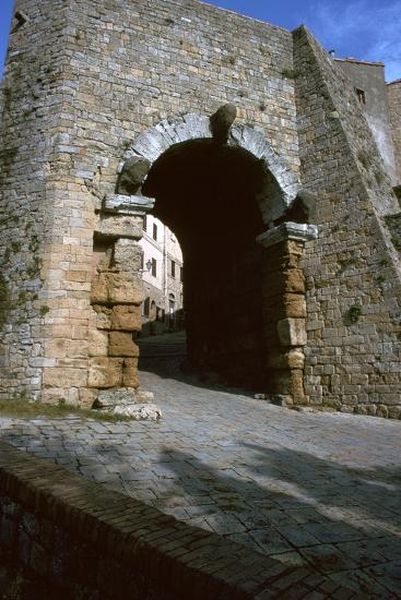 The Etruscan Arch in Volterra, 4th century BC-Unknown-Photographic Print