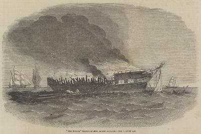 The Europa Transport Ship, as She Appeared 1 June, Seven Am--Giclee Print