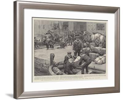 The Evacuation of Crete, British Bluejackets Clearing Out the Turks, Bag and Baggage-Frank Dadd-Framed Giclee Print