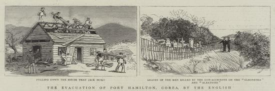 The Evacuation of Port Hamilton, Corea, by the English--Giclee Print
