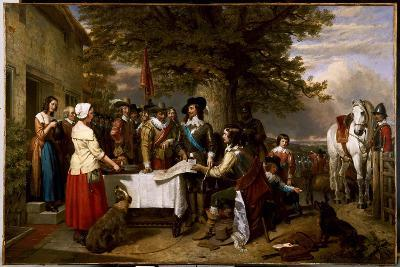 The Eve of the Battle of Edgehill, 1642, 1845-Charles Landseer-Giclee Print
