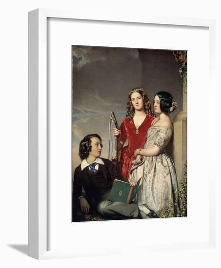 The Evening Hour, Exh. 1847-John Faed-Framed Giclee Print