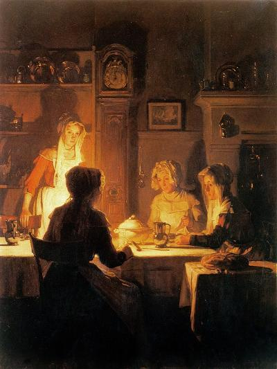 The Evening Meal, circa 1900-Joseph Bail-Giclee Print