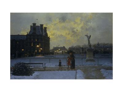 The Evening Promenade-Marcel Lebrun-Giclee Print
