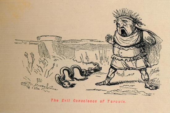 'The Evil Conscience of Tarquin', 1852-John Leech-Giclee Print