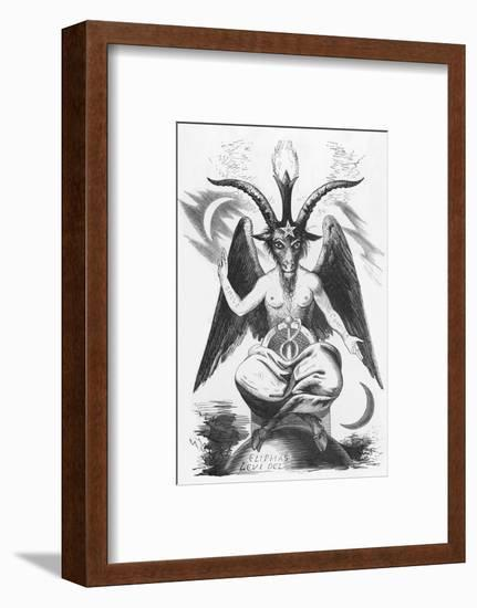 The Evil One Can Take Many Shapes But This is His True Shape-Eliphas Levi-Framed Giclee Print