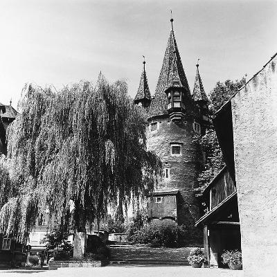 The Evocative Medieval Tower Diebsturm (Tower of Thieves) in Lindau, Baveria-Pietro Ronchetti-Photographic Print