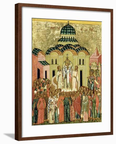 The Exaltation of the Cross, Russian Icon from the Cathedral of St. Sophia--Framed Giclee Print