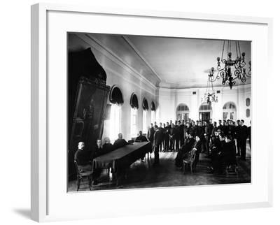 The Examining Board at the Alexander Lyceum--Framed Photographic Print