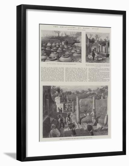 The Excavations at Bosco Reale-G.S. Amato-Framed Giclee Print