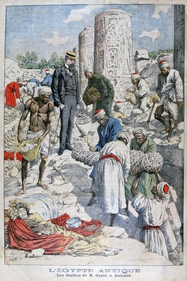 The Excavations of Antinopolis, Egypt, by Albert Gayet, 1904--Giclee Print