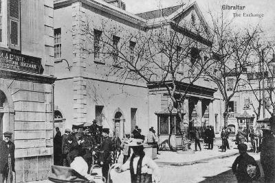The Exchange, Gibraltar, 20th Century--Giclee Print