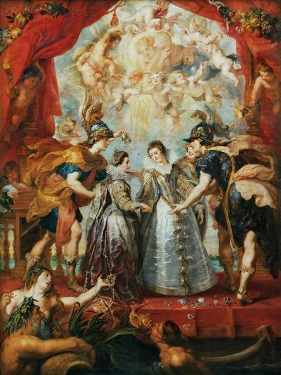 The Exchange of the Princesses at the Spanish Border-Peter Paul Rubens-Giclee Print