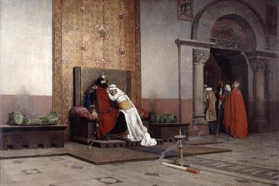 The Excommunication of Robert the Pious, 1875-Jean-Paul Laurens-Giclee Print