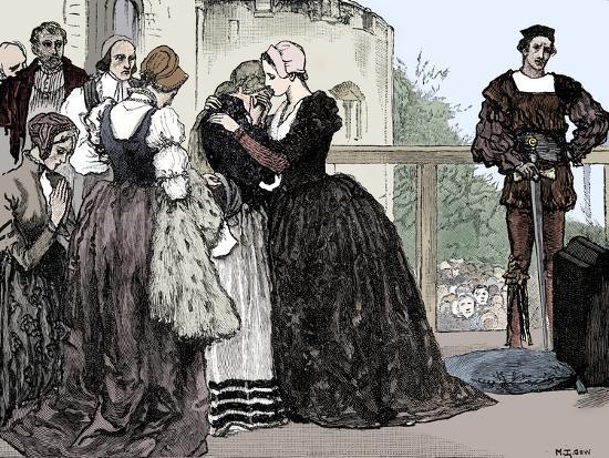 The execution of Anne Boleyn, 1536-Unknown-Giclee Print