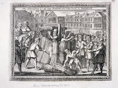 The Execution of John Bradford and John Leaf at Smithfield, 1555--Giclee Print