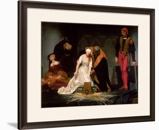 The Execution of Lady Jane Grey, 1833-Hippolyte Delaroche-Framed Giclee Print