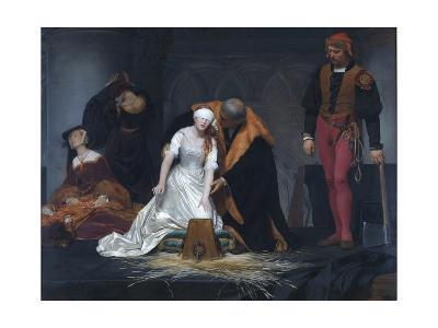 The Execution of Lady Jane Grey in the Tower of London in the Year 1554-Paul Delaroche-Giclee Print