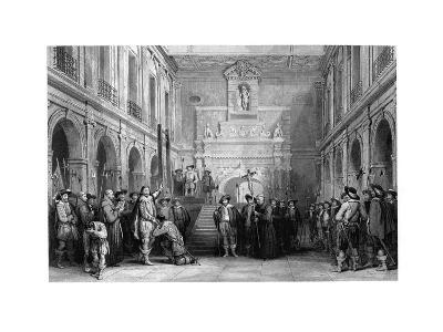 The Execution of Montmorenci, Court of the Hotel De Ville, Toulouse, 1632--Giclee Print