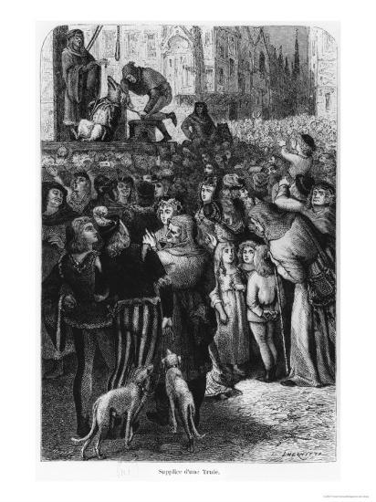"""The Execution of the Sow from Falaise, Illustration from """"The Man and the Beast""""--Giclee Print"""