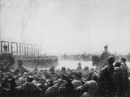 The Execution of the Terrorists in Russia, 1884-1885-Vasili Vasilyevich Vereshchagin-Giclee Print