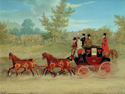The Exeter Royal Mail on a Country Road-James Pollard-Giclee Print